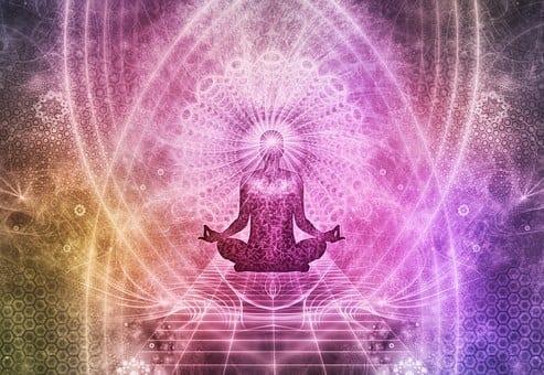 graphic image of someone meditating