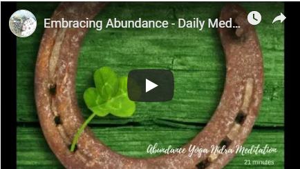 Embracing Abundance Daily Meditation image