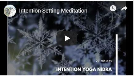 Intention setting meditation image