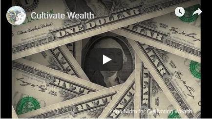 welcome money meditation image
