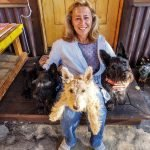 Carin and her scotties