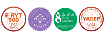 Carin's yoga certification icons