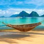 a hammock on the beach
